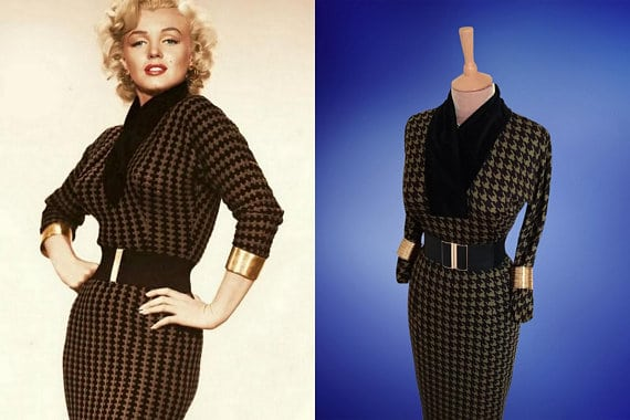 Marilyn Monroe's Gentlemen Prefer Blondes dress for sale on Etsy